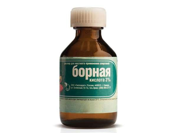 Борная кислота, спирт для борьбы с тараканами