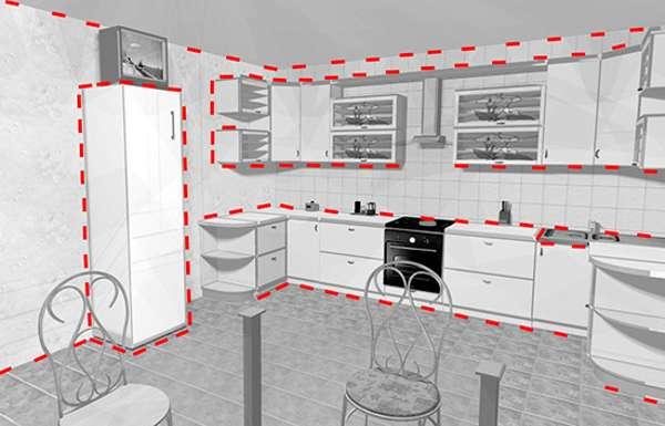 Схема обработки помещения от тараканов