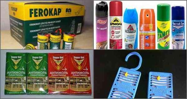 Химические средства от моли в шкафу